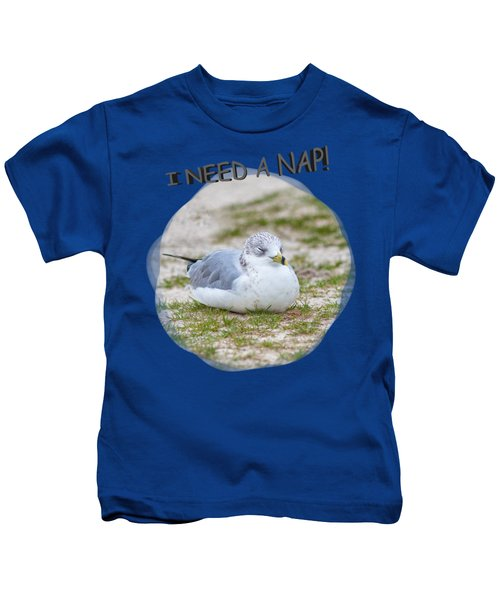 Gull Nap Time Kids T-Shirt by John M Bailey
