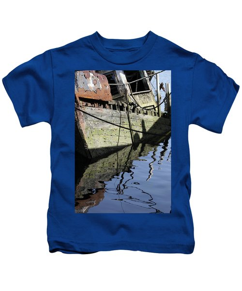 Half Sunk Boat Kids T-Shirt