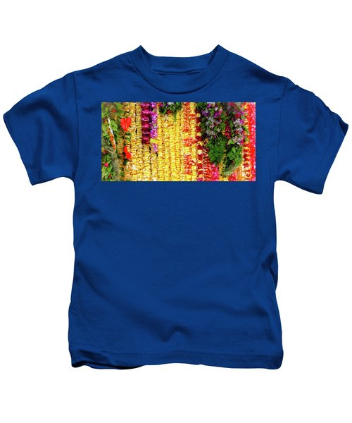 Hawaiian Flower Lei's Kids T-Shirt