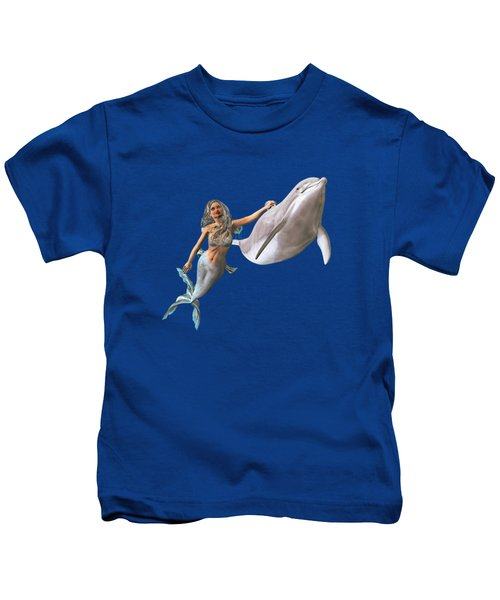 Hitching A Ride Kids T-Shirt by Methune Hively