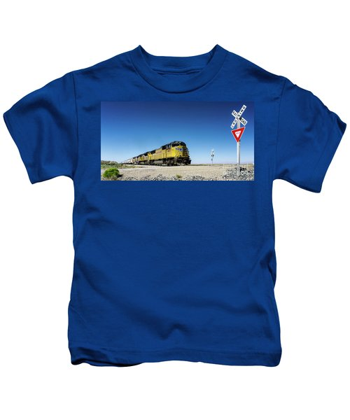 Caution Do Not Stop On Tracks Kids T-Shirt