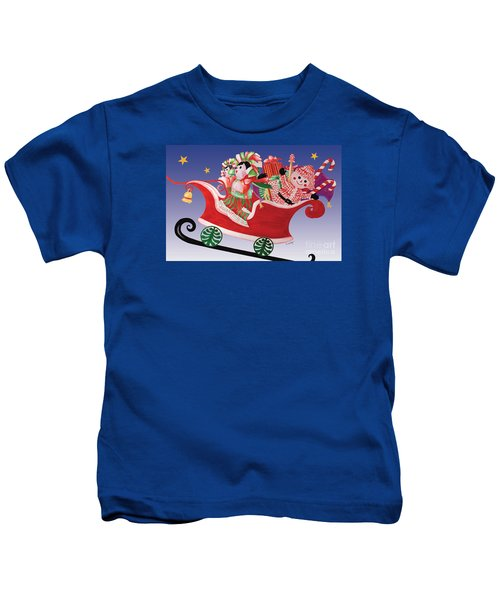 Holiday Twin Delivery Kids T-Shirt