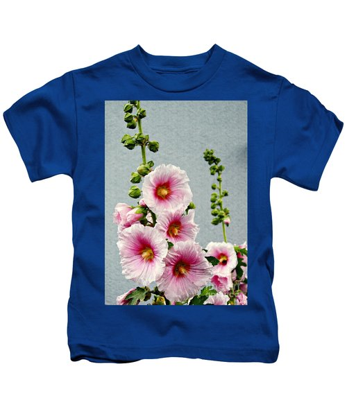 Hollyhocks In Schierstein 3 Kids T-Shirt