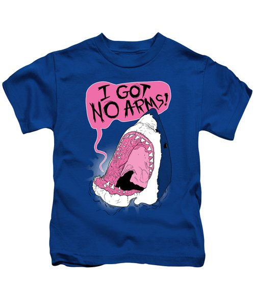 I Got No Arms Kids T-Shirt by Mike Lopez