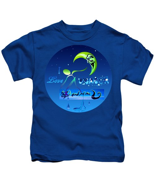 I Love Water  Kids T-Shirt