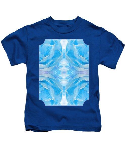 Ice Blue Mosaic - Vertical Kids T-Shirt