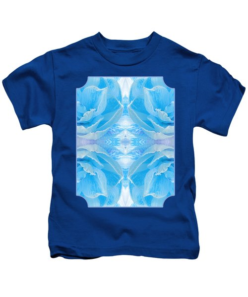 Ice Blue Mosaic - Vertical Kids T-Shirt