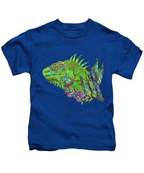 Iguana Cool Kids T-Shirt by Carol Cavalaris