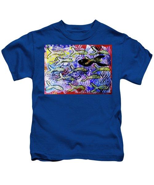 I'm The Black Fish Of The Family Kids T-Shirt