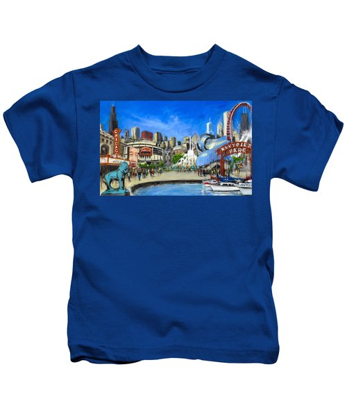 Impressions Of Chicago Kids T-Shirt by Robert Reeves
