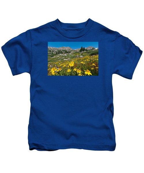 Indian Peaks Summer Wildflowers Kids T-Shirt