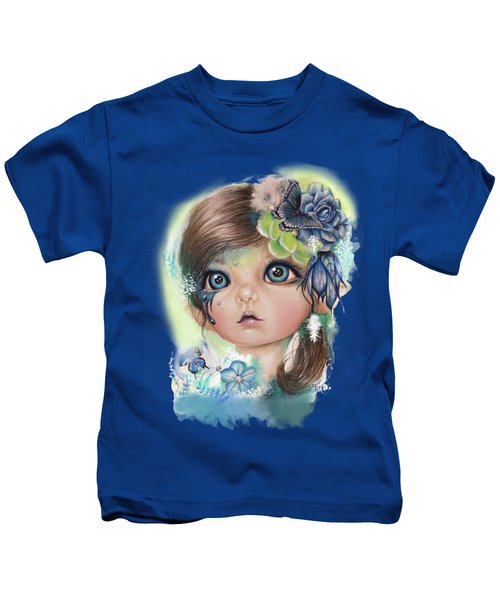 Indigo - Butterfly Keeper - Munchkinz By Sheena Pike  Kids T-Shirt by Sheena Pike