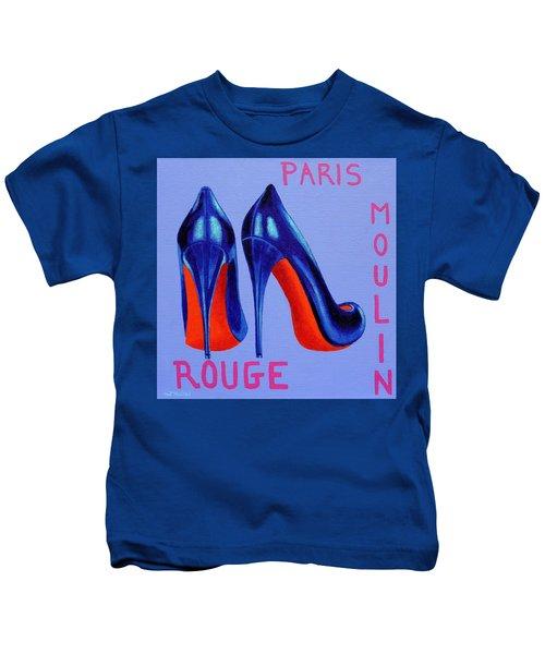 Irish Burlesque Shoes Kids T-Shirt by John  Nolan