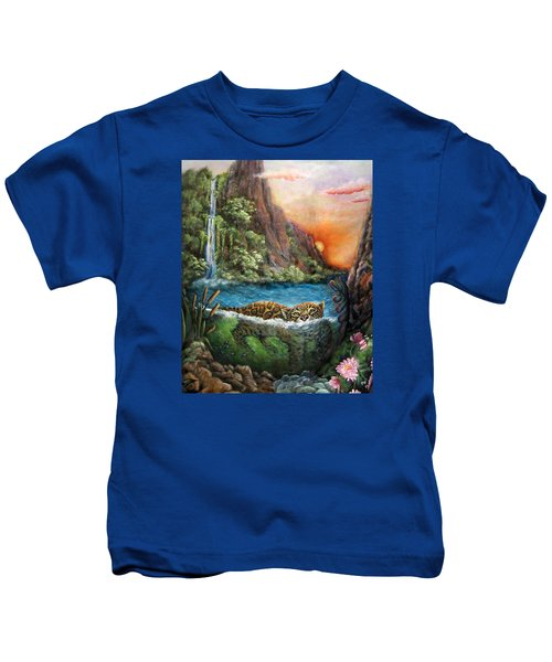 Jaguar Sunset  Kids T-Shirt