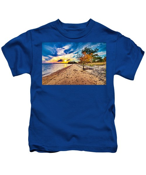 James River Sunset Kids T-Shirt