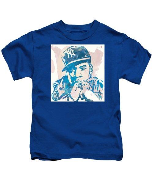 Jay-z  Etching Pop Art Poster Kids T-Shirt by Kim Wang