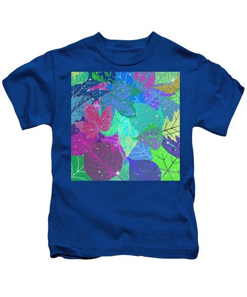 Jeweled Leaves Kids T-Shirt