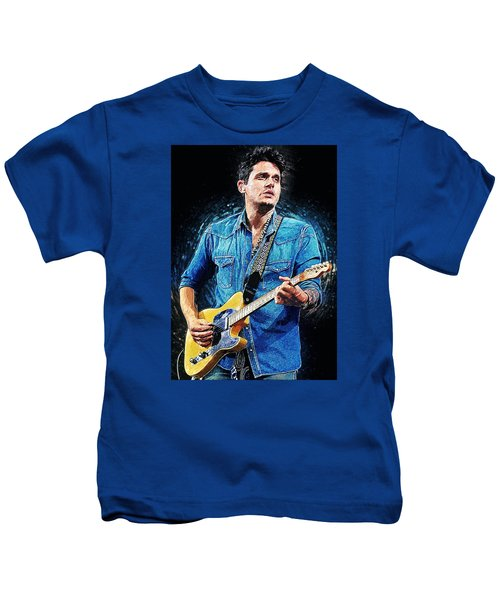 John Mayer Kids T-Shirt by Taylan Apukovska
