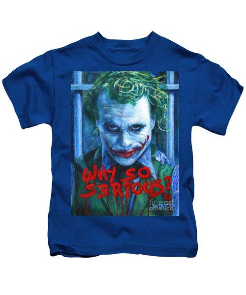 Joker - Why So Serioius? Kids T-Shirt by Bill Pruitt