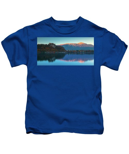 Lake Bled Panorama Kids T-Shirt