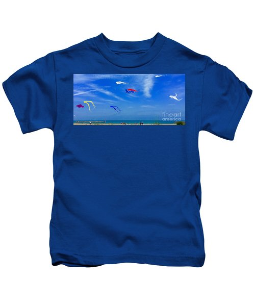 Lake Erie Kite Flying Kids T-Shirt