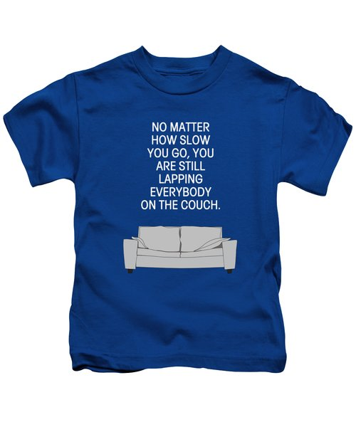 Lap The Couch Kids T-Shirt by Nancy Ingersoll