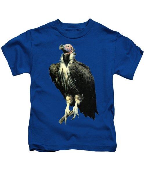 Lappet Face Vulture Kids T-Shirt by Teresa  Peterson