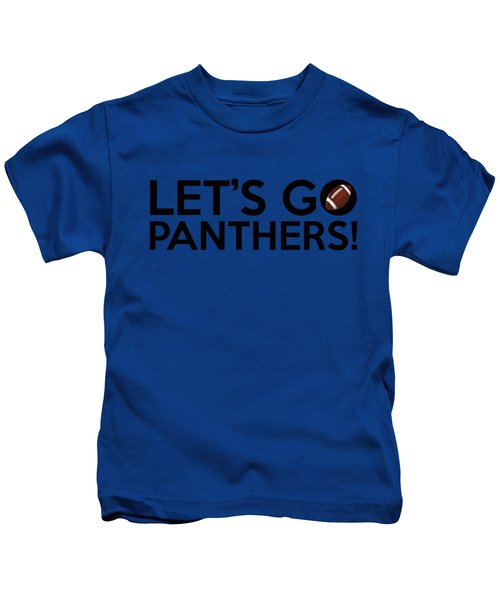 Let's Go Panthers Kids T-Shirt by Florian Rodarte