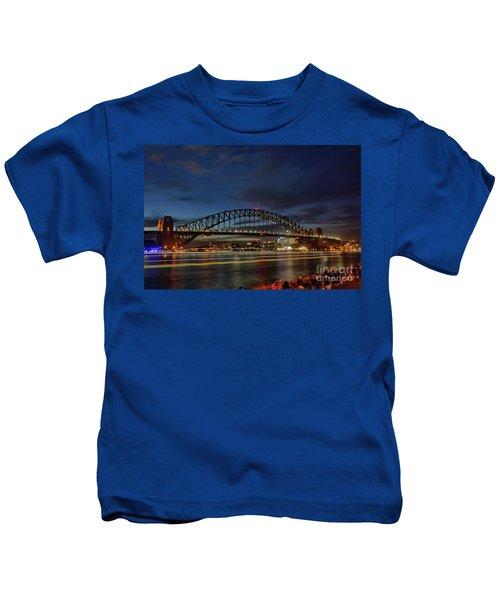 Light Trails On The Harbor By Kaye Menner Kids T-Shirt