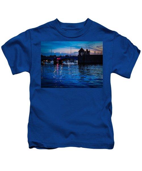 Liquid Sunset Kids T-Shirt