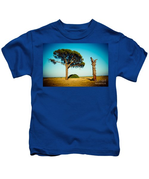 Live And Dead Tree At Seacoast Kids T-Shirt