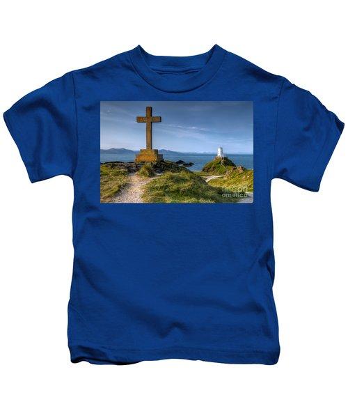 Llanddwyn Cross Kids T-Shirt