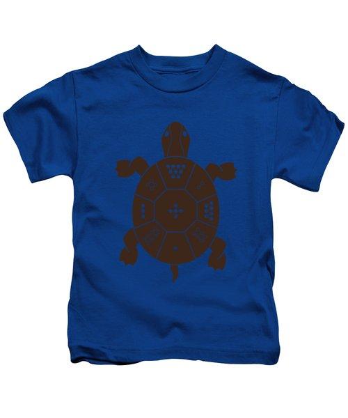Lo Shu Turtle Kids T-Shirt by Thoth Adan
