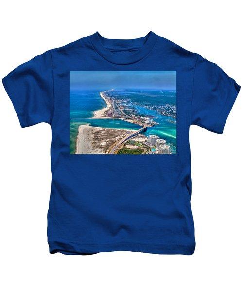 Looking West Across Perdio Pass Kids T-Shirt