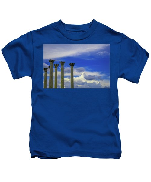 Looking Towards Olympus  Kids T-Shirt