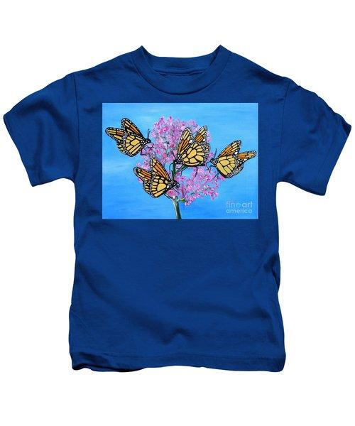 Butterfly Feeding Frenzy Kids T-Shirt