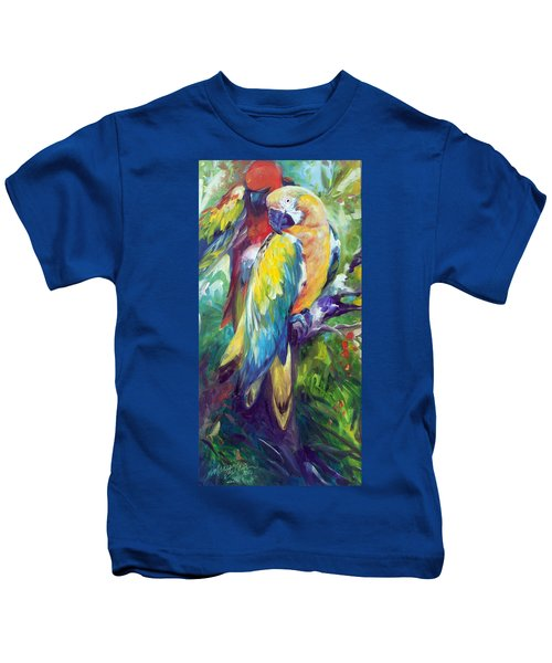 Macaw Pair Kids T-Shirt