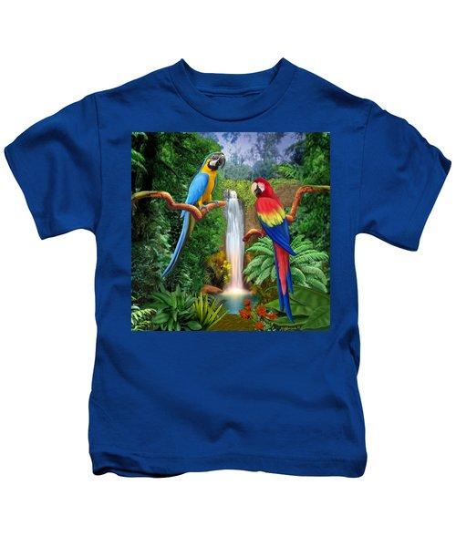 Macaw Tropical Parrots Kids T-Shirt