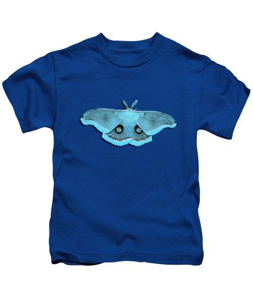 Male Moth Aqua .png Kids T-Shirt