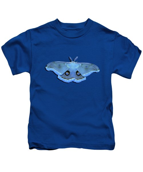 Male Moth Light Blue .png Kids T-Shirt