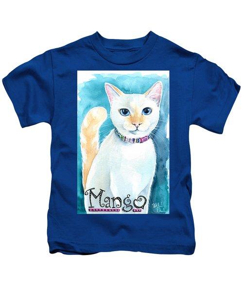 Mango - Flame Point Siamese Cat Painting Kids T-Shirt