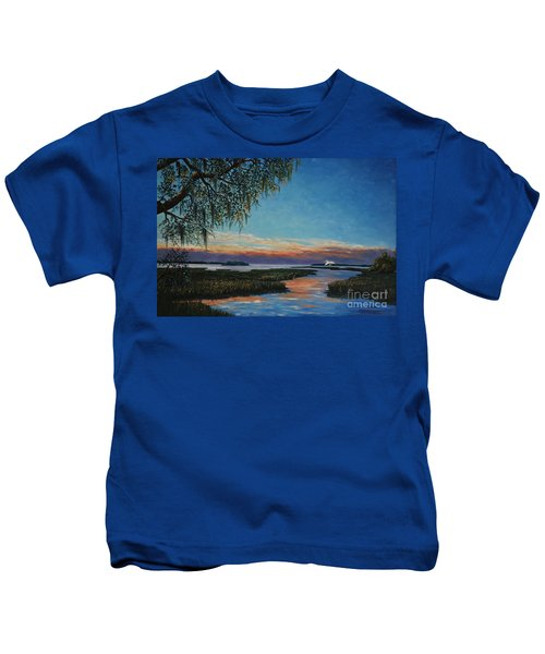 May River Sunset Kids T-Shirt