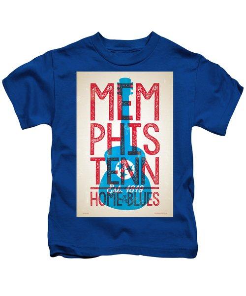 Memphis Poster - Tennessee Kids T-Shirt