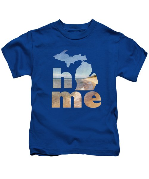 Michigan Home Kids T-Shirt by Emily Kay