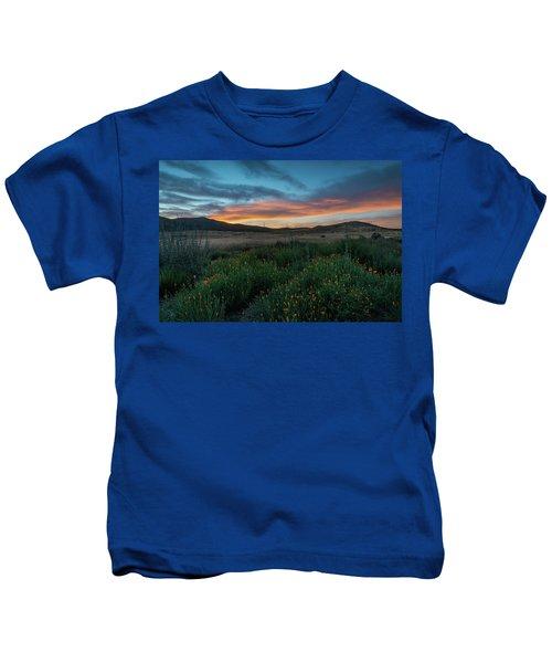 Mission Trails Poppy Sunset Kids T-Shirt