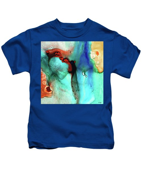 Modern Abstract Art - Color Rhapsody - Sharon Cummings Kids T-Shirt