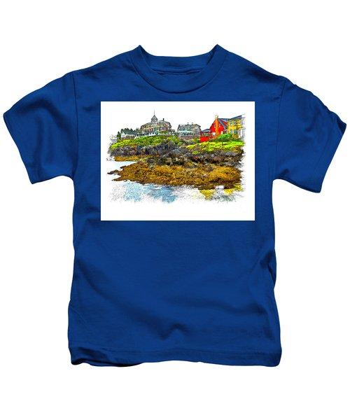 Monhegan West Shore Kids T-Shirt