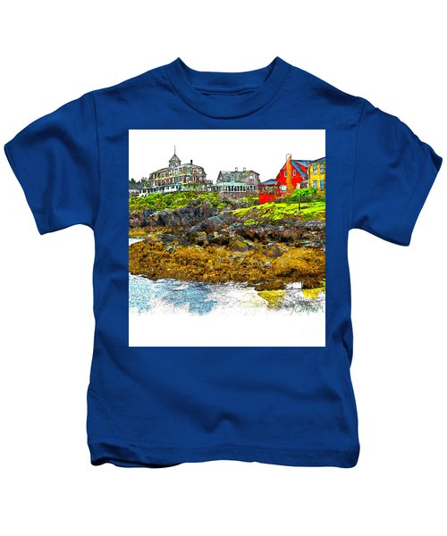 Monhegan West Shore Kids T-Shirt