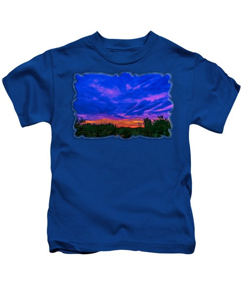 Monsoon Sunset H43 Kids T-Shirt