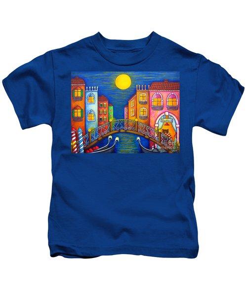 Moonlit Venice Kids T-Shirt
